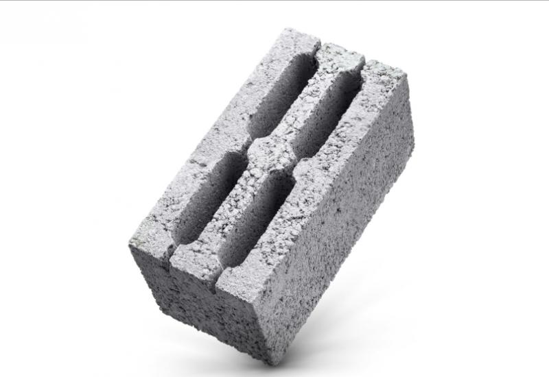 Керамзитобетонный блок 4х-пустотный